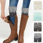 Women Winter Leg Warmers Trim Socks Button Crochet Lace Boot Socks Toppers Cuffs