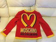 MOSCHINO MCDONALDS 20 BILLION SERVED LADIES JACKET SIZE MEDIUM M 12 44 NEW