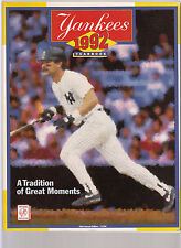 Vintage New York Yankees 1992 Official Team Yearbook Don Mattingly on Cover