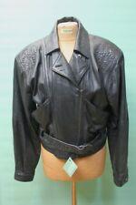 Coole vintage Leder Jacke 90er nineties M/38 schwarz retro oldschool Designer