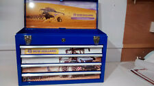 New Holland themed and created specialist 4 drawer metal toolbox