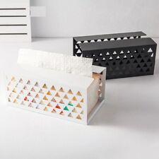 Iron Tissue Box Retangle Anti Corrosion Home Office Desktop Napkin Paper Holder