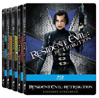 RESIDENT EVIL - 5 STEELBOOK COLLECTION (5 BLU-RAY + GADGET) con Milla Jovovich