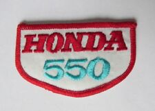 "Vintage Honda Motocross ""Honda 550"" Embroidered Patch  2"" x 3""  Free Shipping"
