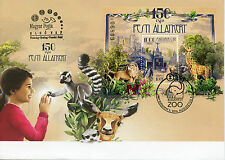 Hungary 2016 FDC Budapest Zoo 150 Yrs 1v M/S Cover Wild Animals Lions Stamps