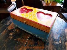 Un bellissimo CUORI Indiano fatto a mano tema Jewellery & Ciondolo Box. BELLA REGALO.