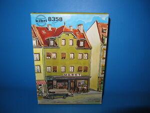 Kibri H0 Stadthaus mit Super Markt  No. 8358 Ungebaut in OVP #2295