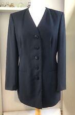 JAEGER Black Pure Wool Formal Dress Jacket Size 10  Work Smart Career