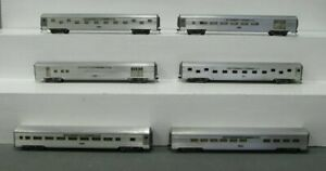 HO Scale Assorted Silver Maple Valley Passenger Cars [6]
