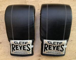 REYES CLETO Black Leather Boxing Bag Gloves XL