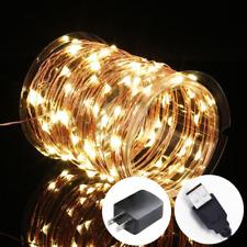 Innotree Fairy Lights USB Plug In, 33Ft 100 LED Warm White Waterproof Starry Str