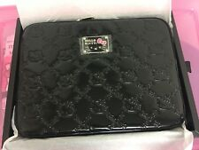 "HELLO KITTY Black EMBOSSED Patent LAPTOP CASE for 13"" Macbook Pro SANRIO"