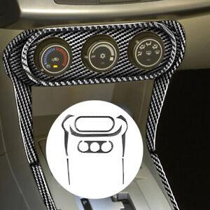 7x Carbon Fiber Multimedia Panel Frame Trim Fit for Mitsubishi Lancer 2008-2014