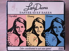 Unused Vintage Golf Balls: Lady Diana Pastel 12 balls never used