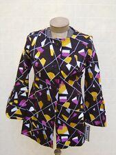 NYGARD Womens Linen Trench Pea Coat Jacket Dress Blazer 8 Black Gold White $228