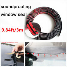 3M 10ft Black Car Windshield Edge Protector Sealing Strip T-Type Rubber Seal
