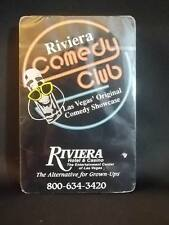 New Sealed DECK of RIVIERA COMEDY CLUB PLAYING CARDS las vegas, nevada casino