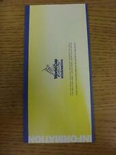 09/06/1999 Cricket: ICC World Cup Information Leaflet (fold out style) For The Z