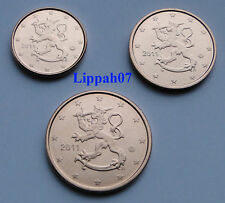 Finland 1, 2 en 5 cent 2011 UNC