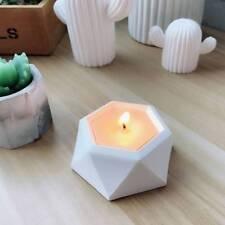 Silicone Mold Geometric Flower Pots Succulent Plant Deco Candle Holder Mould