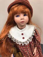 "16"" Artist Doll Porcelain Heather Glen ""Peanut"" Adorable Redhead With Teddy #S"