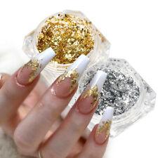 Flakes Glitter Aluminum Foil Sequins Chrome Powder Nails Irregular Sticker Decor