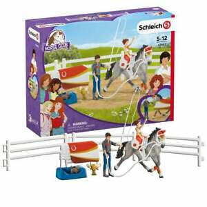 Schleich Horse Club Mia's Vaulting Set inc Tournament Horse Instructor & Rider