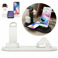 4 in 1 QI Fast Wireless Charger Charging Dock for Airpods/IWatch/iPhone Portable