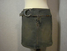 "Bench blue denim mini short skirt 30"" waist (8-10)"