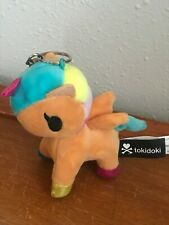 Rainbow Unicorn Stuffed Backpack Hanger Gently Used Tokidoki Plush Orange w
