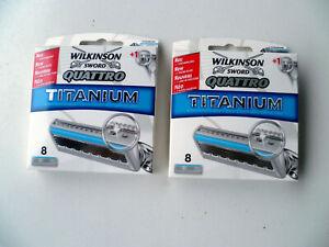Wilkinson Quattro Titanium Klingen 8er Packung - 2 Stück = 16 Klingen