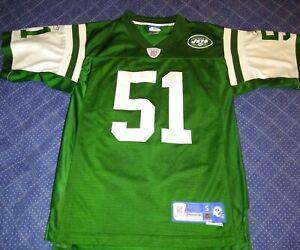 New York Jets Vintage Reebok Jonathan Vilma Player's Jersey Size Small
