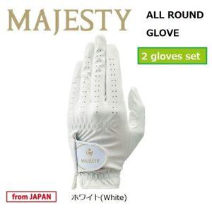 2019 MARUMAN GOLF JPN MAJESTY ALL ROUND GLOVE SET (2 gloves) WHITE S-L size 19wn