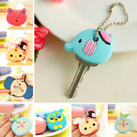 Cute Key Ring Cap Head Cover Chain Cap Phone Strap Cartoon Animals Key Set Charm