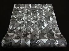 """42501-10) Vliestapete """"Collage"""" Grafik Design Tapete schwarz silber mit Glanz"""