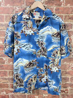 Hilo Hattie M Hawaiian Shirt Short Sleeve Collar Button Floral Tiki USA Hawaii