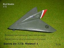 Horten Ho XIII b Entwurf 1  1/72 Bird Models Resinbausatz / resin kit