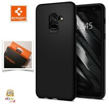 Cover SAMSUNG GALAXY A8 (2018) Custodia Spigen LIQUID AIR in Policarbonato  NERO