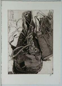 Horst Janssen /Radierung/1982/Freundschaft /Griffelkunst Nr. 59/handsigniert