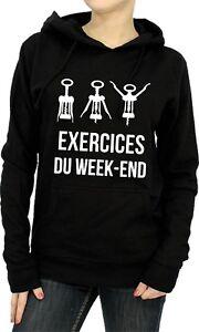 Sweat à capuche FEMME EXERCICES DU WEEK-END
