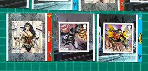 2021 DC Comics Batman Robin & Wonder Women. Set of 3 Self Adhesives Unmounted