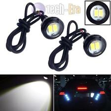 2PCS White 2W 5730-SMD LED Eagle Eye Motorcycle Car Parking Fog Backup Light DRL