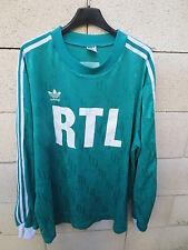 VINTAGE Maillot COUPE DE FRANCE porté n°12 vert ADIDAS RTL match worn shirt XL