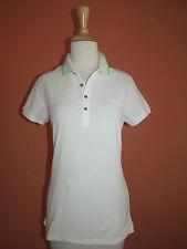 New Ralph Lauren Golf  Womens Size M White Tipped Collar Mesh Golf Polo Shirt