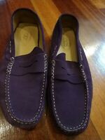 Tods mens shoes Size 8.5 Purple Suede