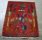 Afghan War hand made and knotted rug in memory of war against terrorism