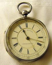 1887 English Keywind Centre Seconds Chronograph Pocket Watch