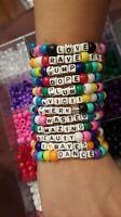 20 Kandi Bracelets -10 Custom & 10 Random EDM RAVE KANDI PLUR