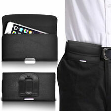 PU Leather Horizontal Belt Clip Pouch Case For BlackBerry Curve 9360