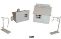 Dapol C011 Hut, Coal Office & Water Crane Plastic Kit OO Gauge